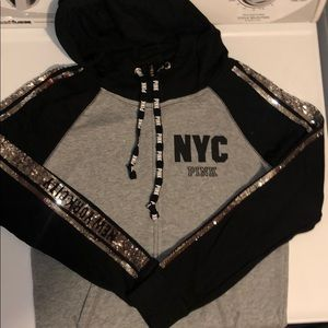 LIMITED EDITION pink New York City sparkle hoodie